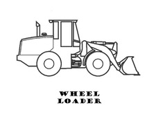 Wheel Loader Coloringpdf