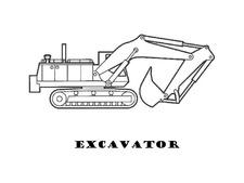 Excavator Coloring
