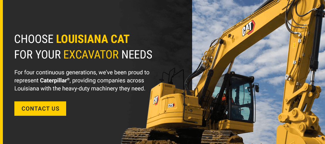 Choose Louisiana Cat for Your Excavator Needs